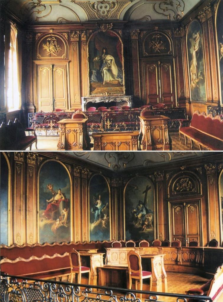 Grande chambre Palais de Justice du Parlement des Flandres de Douai
