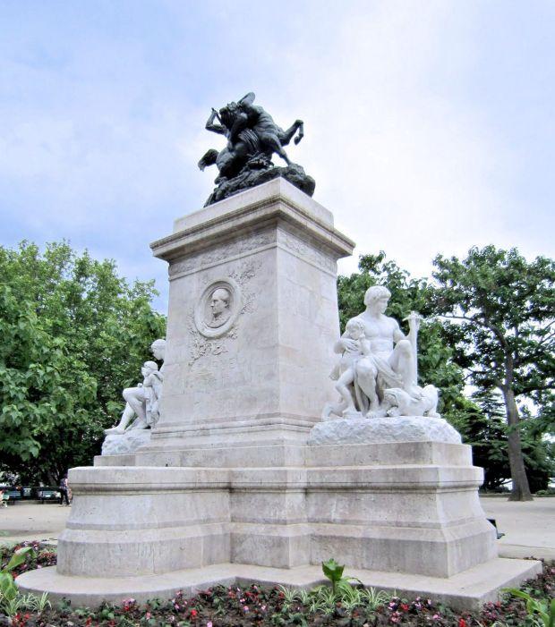 Thésée combattant le Centaure Biénor pour le monument de Barye sur l'île Saint-Louis