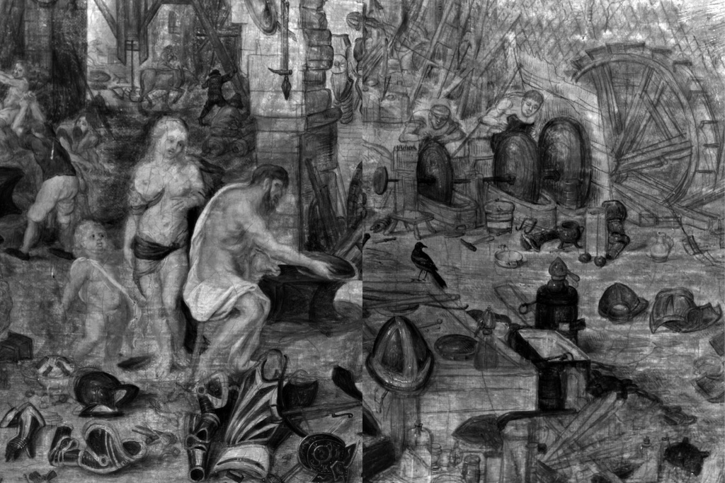 Brueghel The Elements - Fire - IR Details