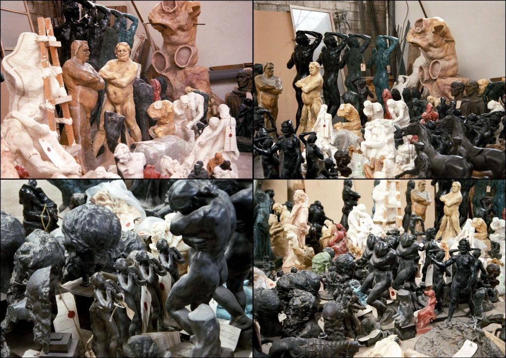 Avec l'apparition des moules en élastomère circa 1970, les faussaires multiplièrent leur production. Moules en élastomère, plâtres originaux, d'atelier. Bronzes contrefaits : Rodin, C. Claudel - Aff. Guy Hain, CA de Besançon, arrêt du 28 juin 2001, par Gilles Perrault.